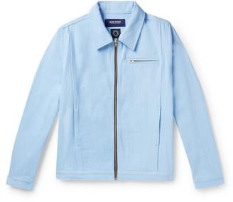 Noon Goons Glasser Oversized Garment-Dyed Denim Jacket - Men - Blue