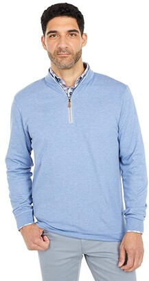 johnnie-O Sully 1/4 Zip Pullover (Laguna Blue) Men's Clothing