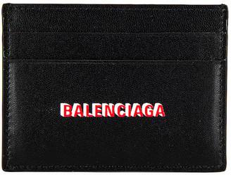 Balenciaga Cash Card Holder in Black & L Red & White   FWRD