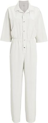 Overlover Hope Short Sleeve Button-Down Jumpsuit