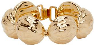Loewe Gold Thin Hammered Globe Bracelet