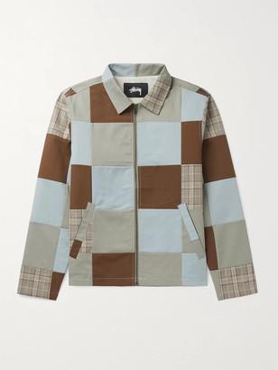 Stussy Patchwork Cotton Jacket - Men - Gray