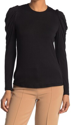 Catherine Malandrino Puffed Shoulder Long Sleeve Top