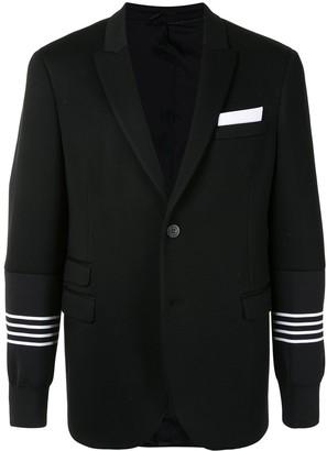 Neil Barrett Sweatshirt Sleeves Blazer
