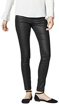 Warehouse Coated Skinny Jeans, Black