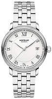 Montblanc 112632 Unisex Tradition Automatic Date Bracelet Strap Watch, Silver/white