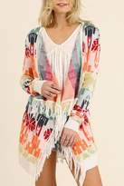 Umgee USA Print Cardigan Sweater