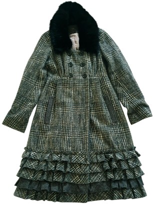 Louis Vuitton Grey Wool Coats