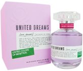 Benetton United Dreams Love Yourself Eau De Toilette Spray for Women, 2.7-Ounce