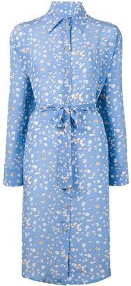 Tara Matthews Seashell Printed Shirt Dress
