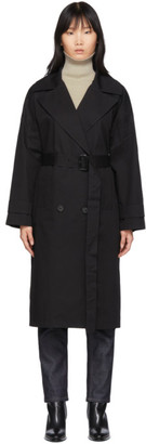 The Loom Black Oversized Trench Coat