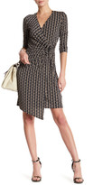 Laundry by Shelli Segal Long Sleeve Printed Wrap Dress