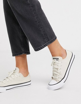 Converse Cream Chuck Taylor Ox All Star Renew Recycled Sneakers