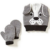 Starting Out Baby Boys Dog Face Hat & Mittens Set