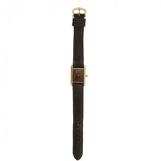 Cartier Tank Must Burgundy Silver Gilt Watches