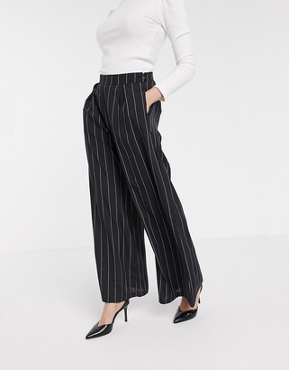 Verona wide leg tailored trousers in stripe co-ord
