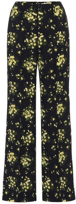Emilia Wickstead Hulline stretch-crApe wide-leg pants
