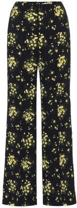 Emilia Wickstead Hulline stretch-crepe wide-leg pants