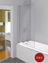 Aqualux Aqua 4 Half Framed Bath Screen - 1400 X 800mm