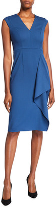 Escada Dehsias Draped Sheath Dress