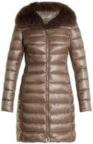 Herno Fox-fur trim quilted down coat