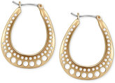 T Tahari Gold-Tone Cutout Hoop Earrings