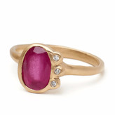 Vanessa Lianne - Eloise Ring With Ruby And White Diamonds