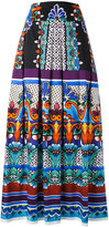 Alberta Ferretti printed maxi skirt - women - Cotton/other fibers - 46