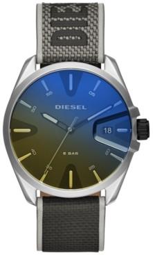 Diesel Men's MS9 Gray Nylon Strap Watch 43mm