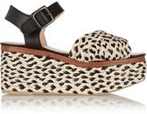 Robert Clergerie April raffia and leather platform sandals
