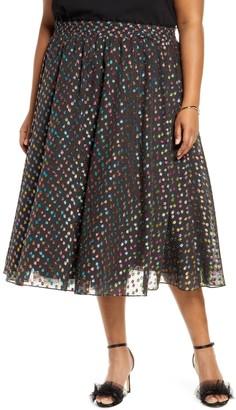 Halogen X Atlantic-Pacific Rainbow Dot Full Skirt