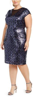 Teeze Me Trendy Plus Size Sequin Dress