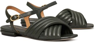 Tory Burch Kira Quilted Ankle-Strap Sandal