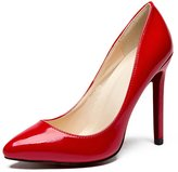 CAMSSOO Women's Sexy Fashion Shallow Pointed Toe High Heels Pumps Dress Shoes Patent PU 7.5 US M