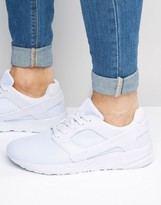 Asos Sneakers in White Mesh With Rubber Panels