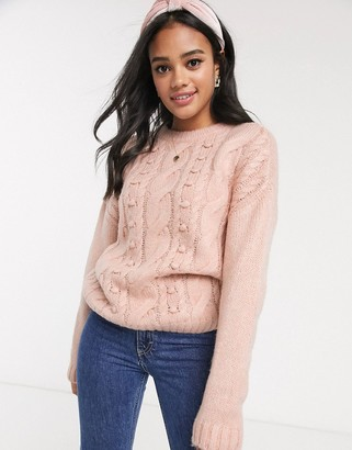 Pimkie cable jumper in pink