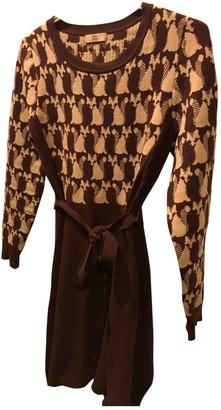Orla Kiely Burgundy Wool Dress for Women