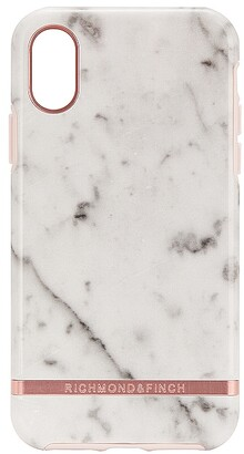 Richmond & Finch White Marble & Rose iPhone X/XS Case