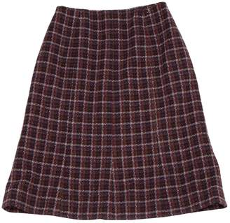 Chanel Burgundy Cashmere Skirts
