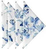 Cloth Napkins 20 Inches Linen Napkins Table Linens Cotton Fabric Set of 4 Blue Floral