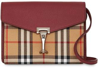 Burberry Mini Leather and Vintage Check Crossbody Bag
