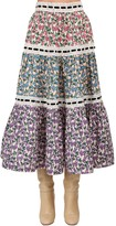 Marc Jacobs Floral Print Cotton Poplin Skirt