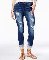 Rampage Juniors' Sophie Ripped Skinny Ankle Jeans