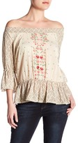 Democracy Floral Bell Sleeve Blouse