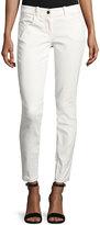 Max Studio Coated Matte Skinny Jeans, Cream