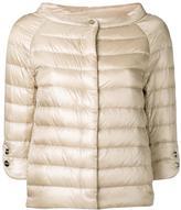 Herno wide neck bomber jacket