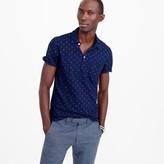 J.Crew Wallace & Barnes anchor print indigo polo shirt