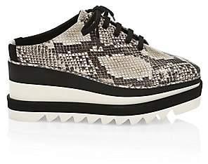 Stella McCartney Women's Sneak-Elyse Platform Wedge Snakeskin-Print Mule Sneakers
