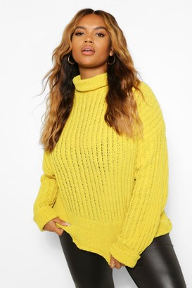 boohoo Plus Knitted High Neck Sweater