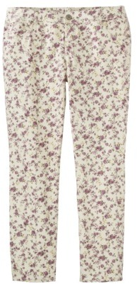 Mossimo Women's Plus-Size Printed Skinny Denim Jeans - Pink Floral Print
